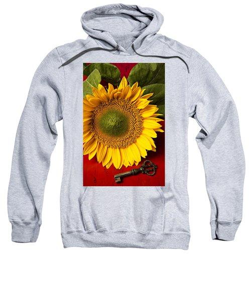Sunflower With Old Key Sweatshirt