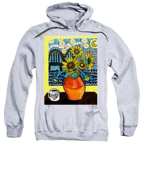 Sunflowers And Starry Memphis Nights Sweatshirt