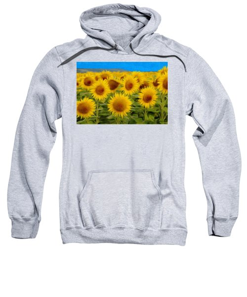 Sunflowers In The Field Sweatshirt