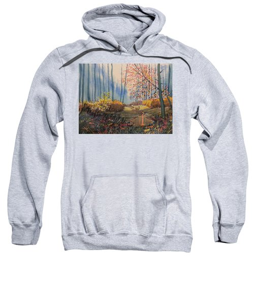 Sunlight And Sheep In Sledmere Woods Sweatshirt