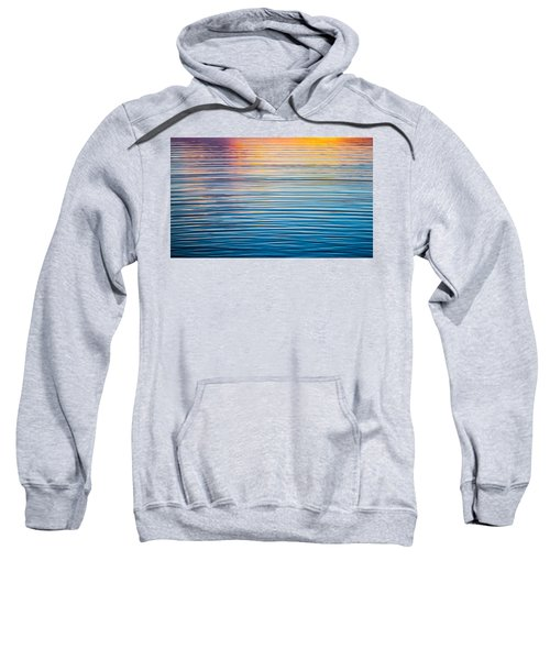 Sunrise Abstract On Calm Waters Sweatshirt