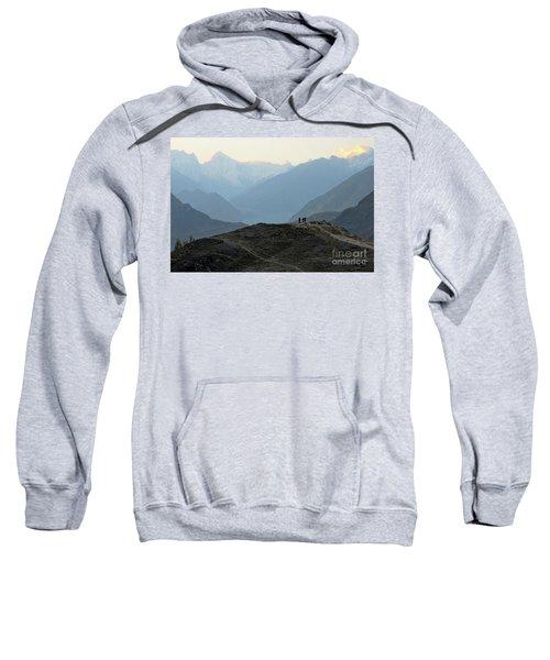Sunrise Among The Karakoram Mountains In Hunza Valley Pakistan Sweatshirt