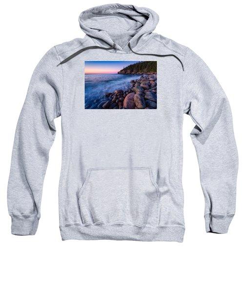 Sunrise At Boulder Beach Acadia Np Sweatshirt