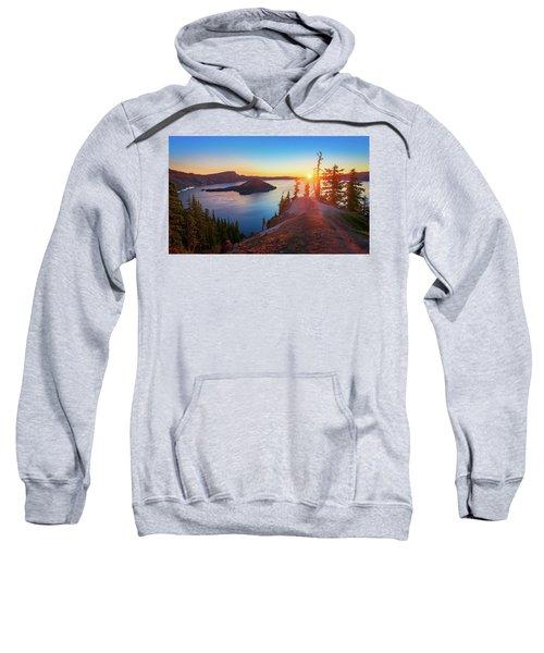 Sunrise At Crater Lake Sweatshirt