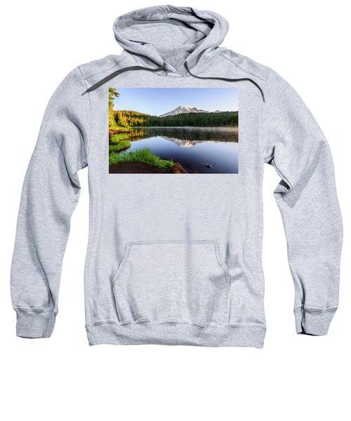 Mount Rainier Viewed From Reflection Lake Sweatshirt