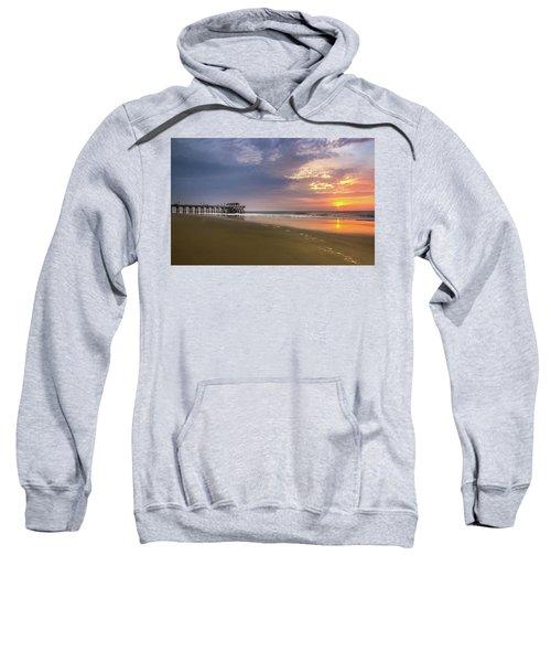 Sunrise At Tybee Island Pier Sweatshirt
