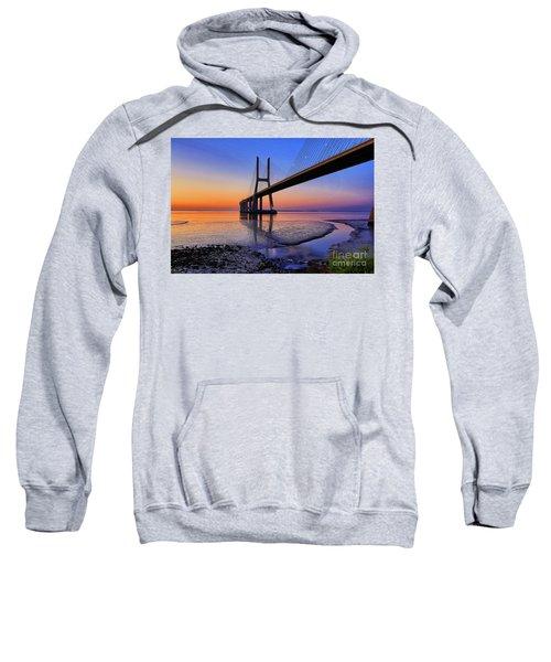 Sunrise At Vasco Da Gama Bridge Sweatshirt