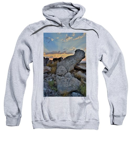 Sunrise Clouds Over Red Rock Valley In Grand Junction Sweatshirt