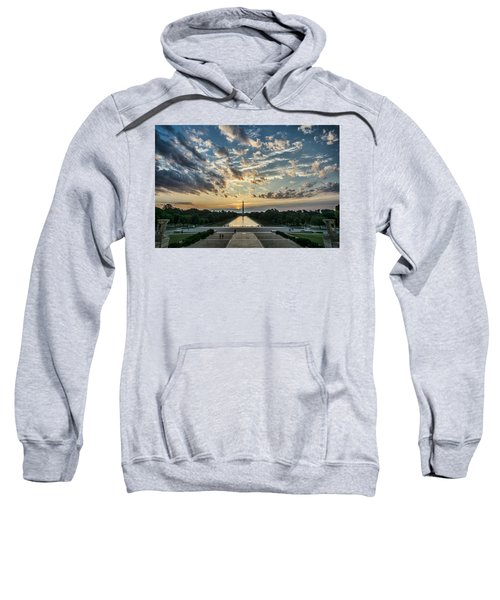 Sunrise From The Steps Of The Lincoln Memorial In Washington, Dc  Sweatshirt