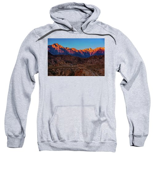 Sunrise Illuminating The Sierra Sweatshirt