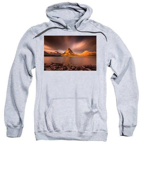 Sunrise In Glacier National Park Sweatshirt