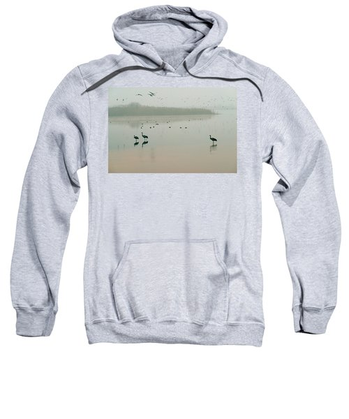 Sweatshirt featuring the photograph Sunrise Over The Hula Valley Israel 2 by Dubi Roman