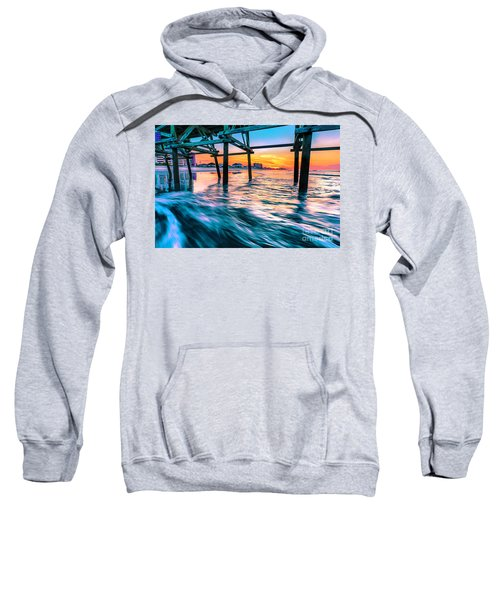 Sunrise Under Cherry Grove Pier Sweatshirt