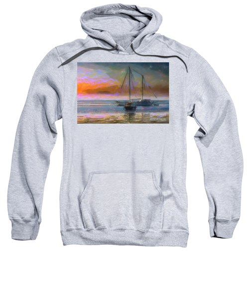 Sunrise With Boats Sweatshirt