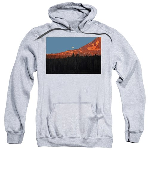 Sunset And Sunrise At Mt Adams Sweatshirt