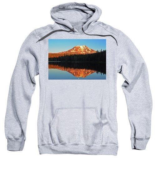 Sunset And Sunrise Mt Adams Sweatshirt