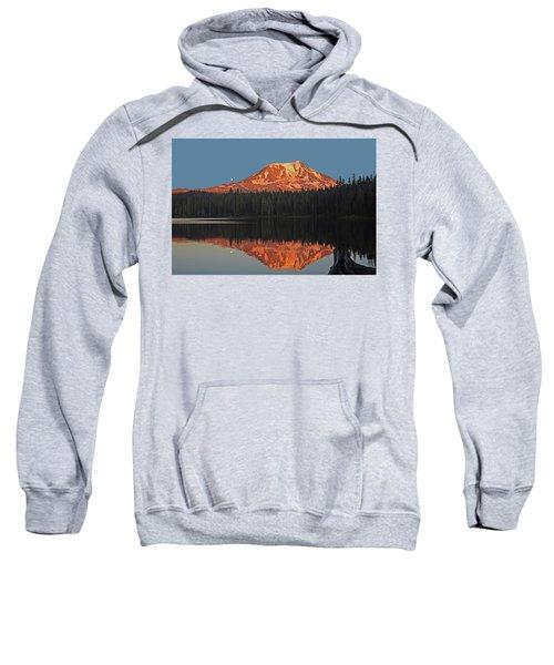 Sunset And Moonrise At Takhlakh Lake Sweatshirt