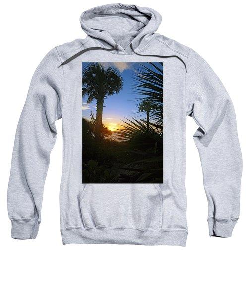 Sunset At Bearefoot Beach In Naples Sweatshirt