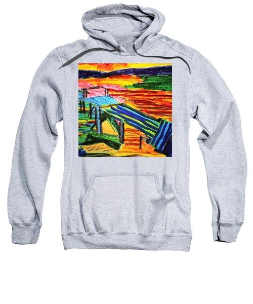 Sunset At Dock Sweatshirt