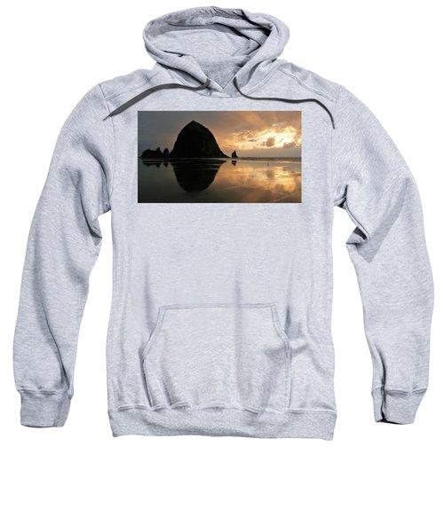 Sunset At Haystack Rock Sweatshirt