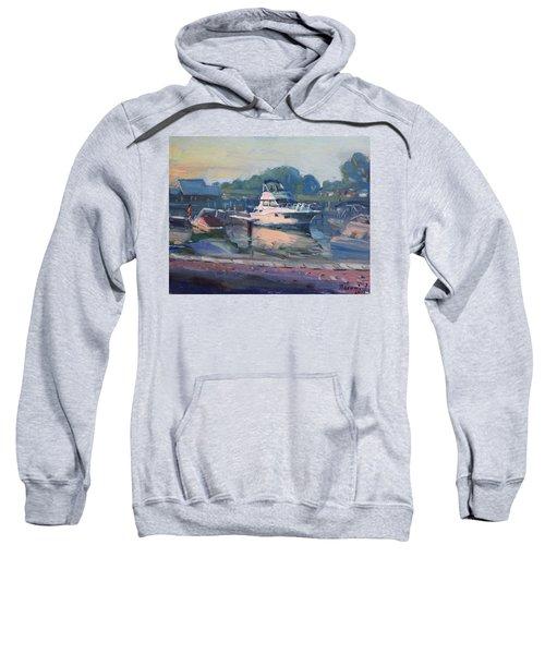 Sunset At Kellys And Jassons Boat Sweatshirt