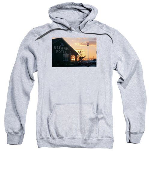 Sunset At Oceanic Motel Sweatshirt