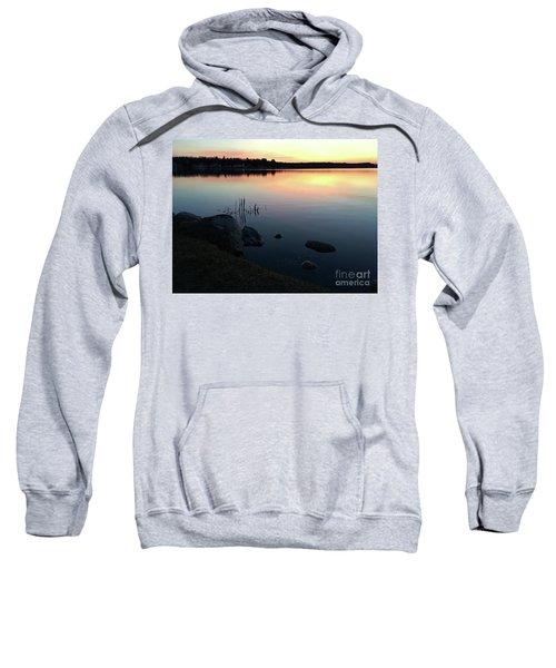 Sunset At Pentwater Lake Sweatshirt
