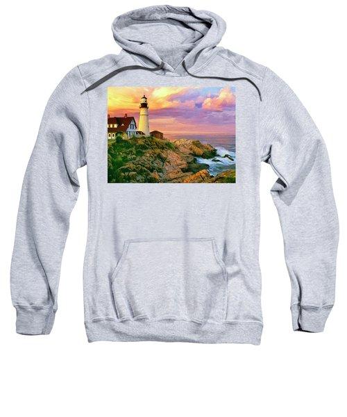 Sunset At Portland Head Sweatshirt