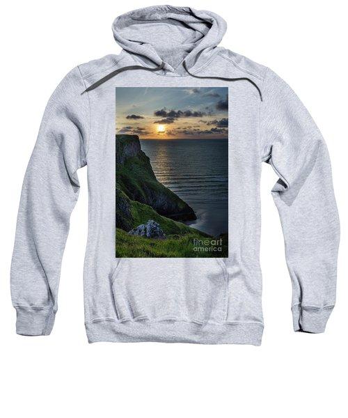 Sunset At Rhossili Bay Sweatshirt