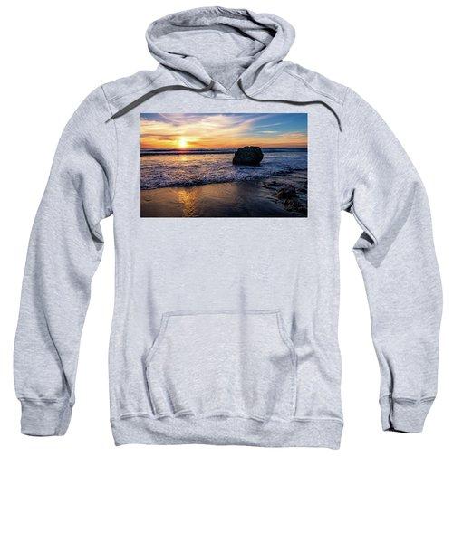 Sunset At San Simeon Beach Sweatshirt