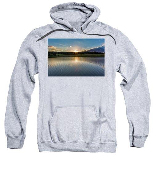 Sunset At The Mandelholz Dam, Harz Sweatshirt