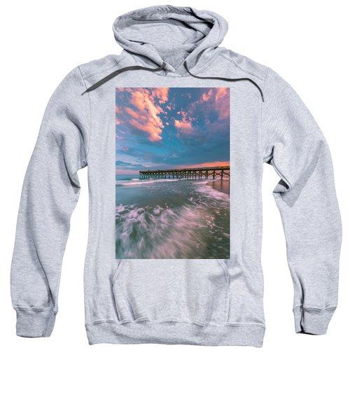 Sunset At Wilmington Crystal Pier In North Carolina Sweatshirt