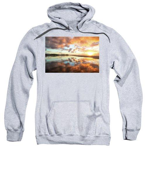 Sunset Beach Reflections Sweatshirt