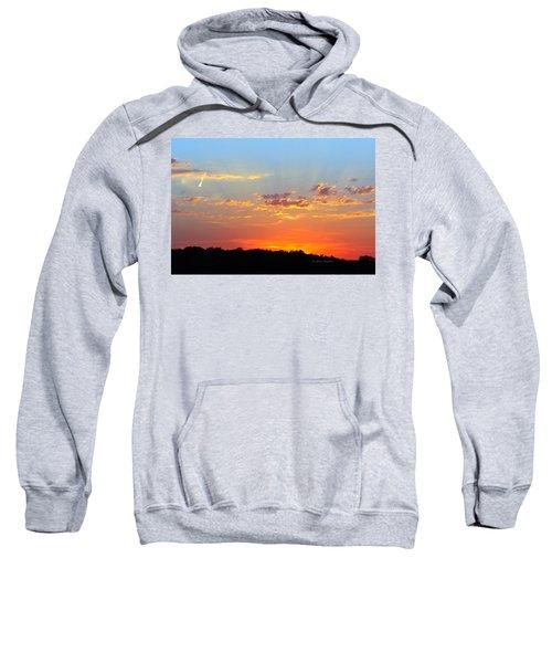 Sunset Glory Orange Blue Sweatshirt