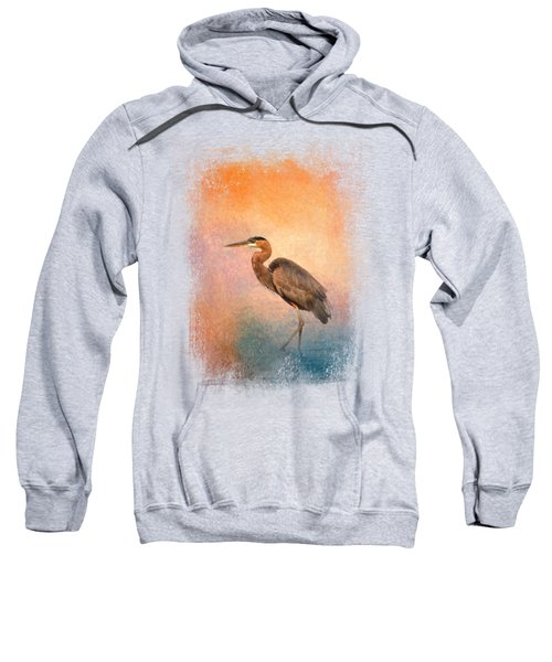 Sunset Heron Sweatshirt by Jai Johnson