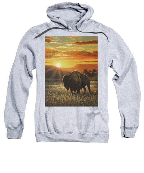 Sunset In Bison Country Sweatshirt