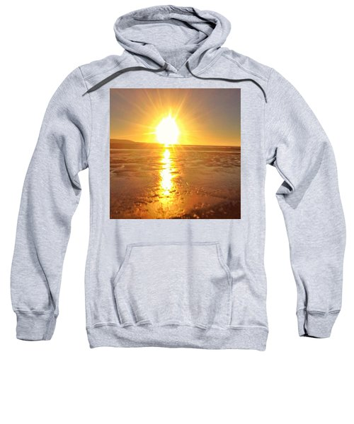 Sunset In College. #sunset  #sun Sweatshirt
