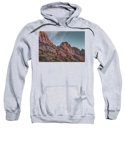 Sunset Lighting At Zion Sweatshirt