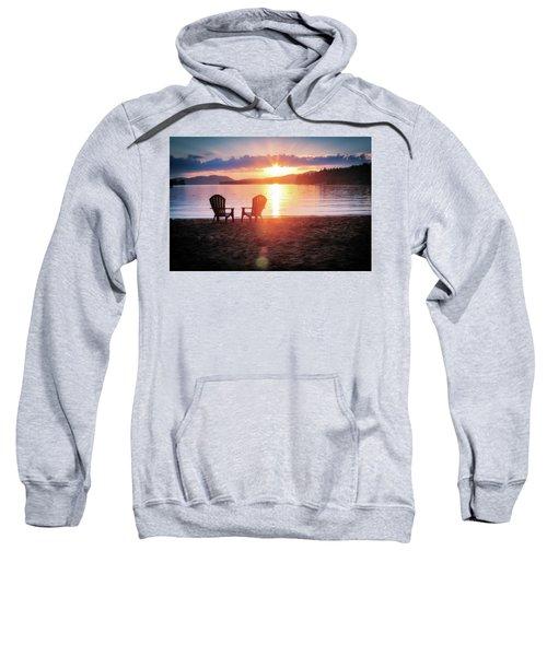 Sunset On Fourth Lake Sweatshirt