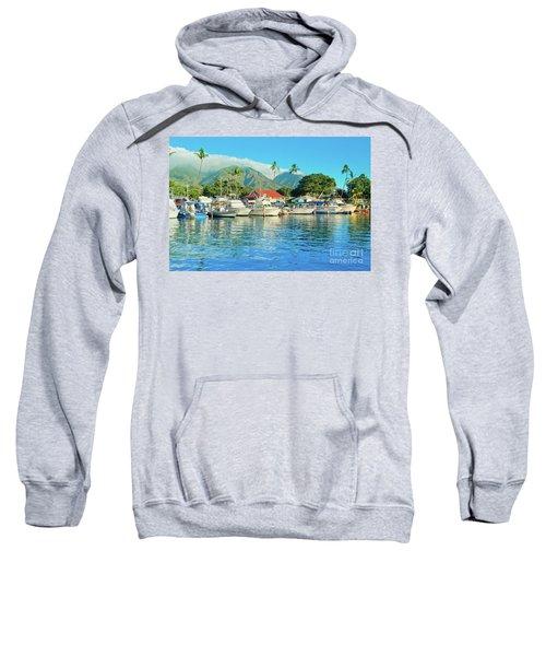 Sunset On The Marina Lahaina Harbour Maui Hawaii Sweatshirt