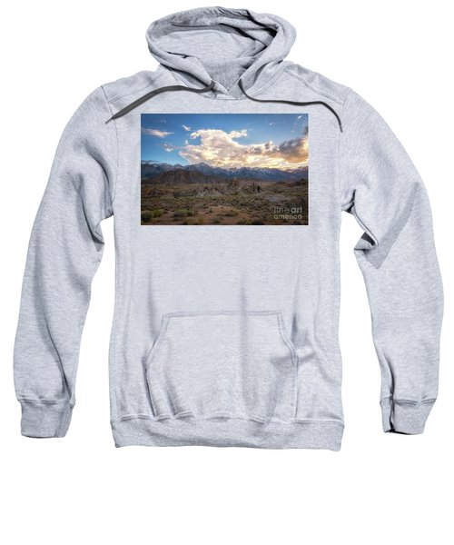 Sunset Over Alabama Hills  Sweatshirt