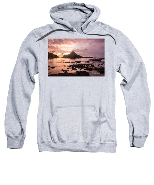 Sunset Over El Nido Bay In Palawan In The Philippines Sweatshirt