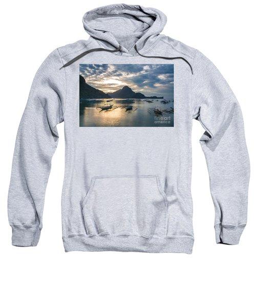 Sunset Over El Nido Bay In Palawan, Philippines Sweatshirt