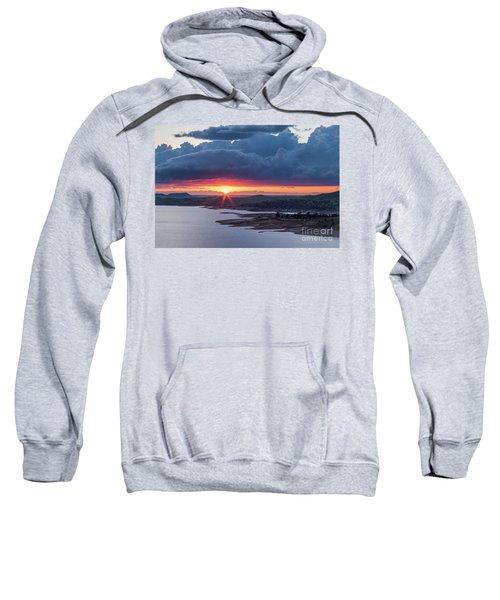 Sunset Over Millerton Lake  Sweatshirt