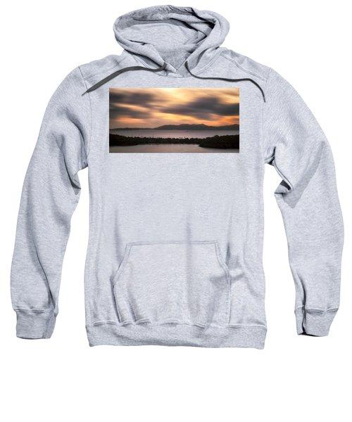Sweatshirt featuring the photograph Sunset Over St. John And St. Thomas Panoramic by Adam Romanowicz