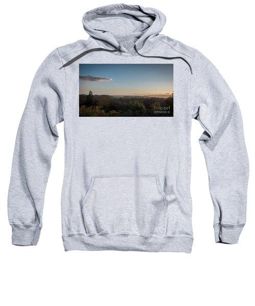 Sunset Over Top Of Dense Forest Sweatshirt