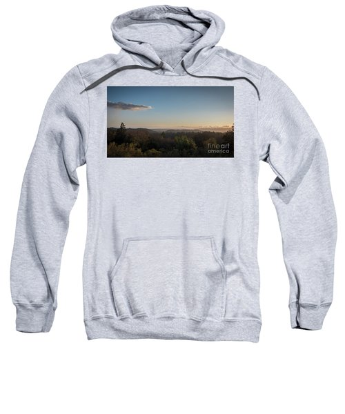 Sunset Over Top Of Dense Forest Sweatshirt