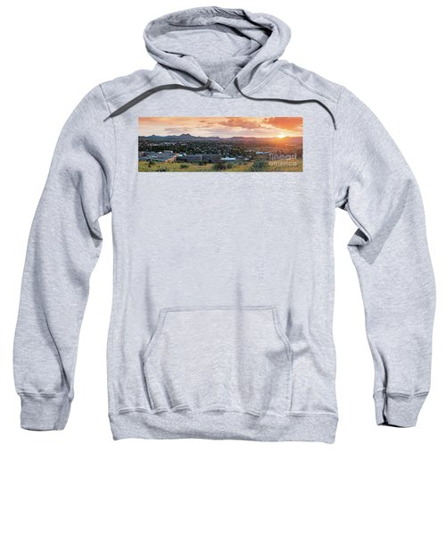 Sunset Panorama Of Alpine And Sul Ross State University - Brewster County - Far West Texas Sweatshirt