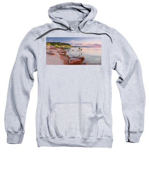 Sunset Panorama Of Canyon Lake East Shore New Braunfels Guadalupe River Texas Hill Country Sweatshirt