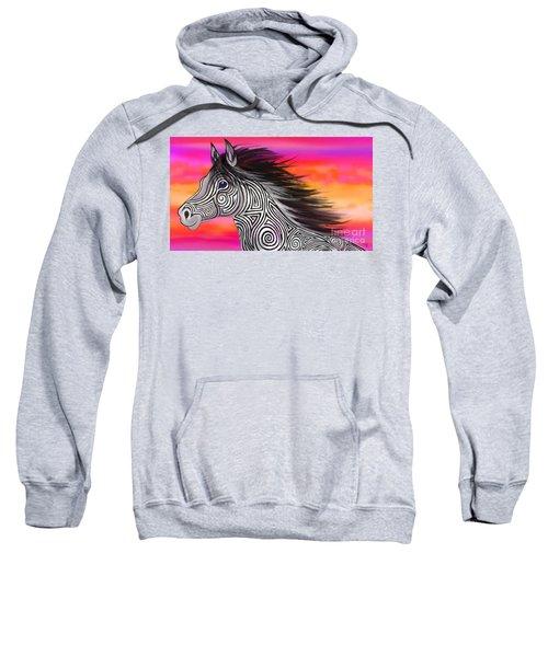 Sunset Ride Tribal Horse Sweatshirt